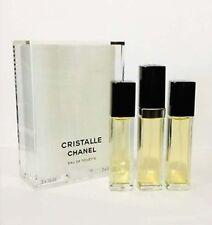 Chanel Cristalle .5 oz Eau de Toilette Purse Spray + 2 Refills ~ Women perfume
