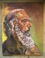 "Portrait of a Man #2 16""x20"" Original Oil Painting Art by Artist on Canvas"