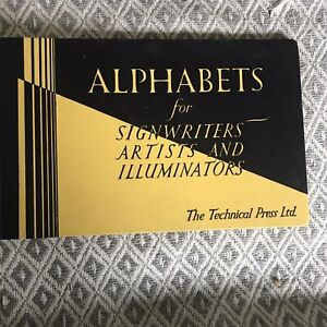 1956*1st* Alphabets For Signwriters Artists & Illuminators - The Technical Press
