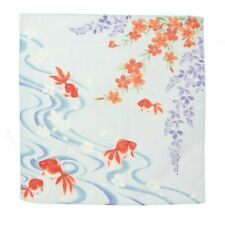 "Japanese Furoshiki Wrapping Cloth Scarf Tapestry 19.75"" Cotton Kingyo Goldfish"