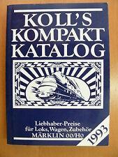 Koll's compacto-catálogo 1993 amantes-precios para locomotoras, coches etc Märklin 00/h0