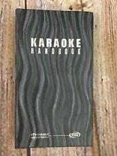Karaoke Handbook Wow Magic Sing Fiesta Edition ED9000 User's Manual Song List