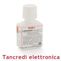 FLUSSANTE LIQUIDO WELLER 25 ml CON PENNELLO APPLICATORE STAGNO SALDATURA SALDARE