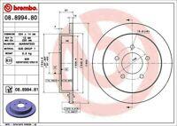 Disc Brake Rotor-Premium UV Coated OE Equivalent Rotor Rear Brembo 08.8994.81