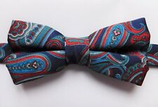 """Paisley bow tie Collar size 11.5 to 19.5"""" mens day or evening wear"""