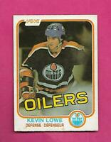 1981-82 OPC # 117 OILERS KEVIN LOWE ROOKIE EX+ CARD (INV# D2059)
