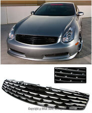 For 03-07 Infiniti G35 Skyline Coupe Front Bumper Hood Insert Badgeless Grille