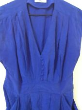 Portmans brand blue sleeveless dress above knee size 12 EUC