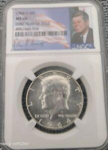 1964 Kennedy Silver Half Dollar NGC Certifed