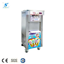 Stainless steel ice cream machine 3 flavors with TOSHIBA compressor