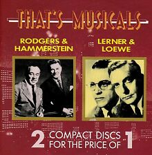 THAT'S MUSICALS Rodgers & Hammerstein / Lerner & Loewe - 2 CD Set