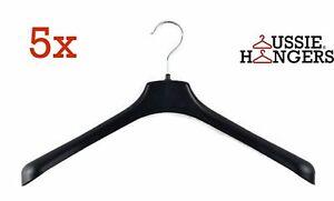 5x JACKET HANGER Heavy Duty 460mm Commercial Pants Clothing Coat Quality R51L