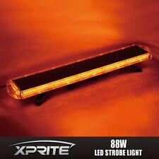 "Amber 88 LED 47"" 28 Modes Emergency Warning Roof Top Flash Strobe Light Bar"