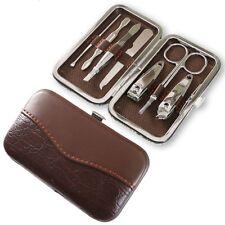 7Pcs Manicure Set Kit Nail Scissors Care Clipper File Travel Tool Case Portable