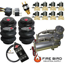 Air Ride Suspension Parts Dual Air Compressor Four Air Bags valves switchbox xzx