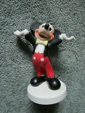 """7"""" Disney Mickey Mouse Ceramic Figurine~ """"The Showman""""~Manufacture d in Mexico"""