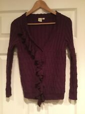 Yellow Bird Anthropologie Purple Button-Up Cardigan, Size Medium
