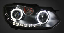 LED-DRL LHD Projector Headlights Lighting Lamp Part For VW Golf 6 In Black Set