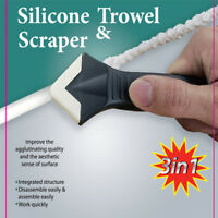 3-In-1 Silicone Sealant Smooth Scraper Grout Kit Remover Caulk Tool Finisher US