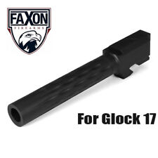 Faxon Flame Fluted Match Stainless Steel Barrel for Glock 17 G17 - Black Nitride