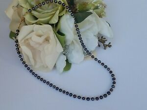 Genuine - Natural Black Pearls - Exotic Color and 14k Gold Filled Necklace