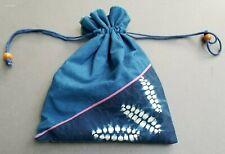 Batik Cotton Drawstring Pouch Festival Ditty Bag