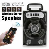 Portable Wireless bluetooth Speaker Super Bass Stereo Radio USB HIFI FM TF AUX