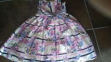 Girls Monsoon Party Dress - Pink Retro  effect ..Age 12-13