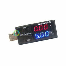 Red&Blue USB Charger Voltage Current Meter Handy Battery Tester Power Detector