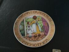 """1991 Applause Mary Engelbreit All That I Am Mother Mini Plate 4"""" New"""