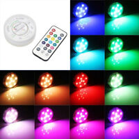 LED RGB Submersible Vase Hookah Light Lamp IP68 Waterproof Wedding Party Decor