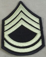 Army WWII Sergeant First Class Sleeve Rank Insignia Reproduction Cut Edge Pair