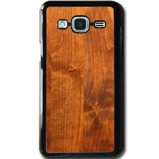 For Samsung Galaxy J3 (2016) Case Phone Cover Hard Wood Y00159