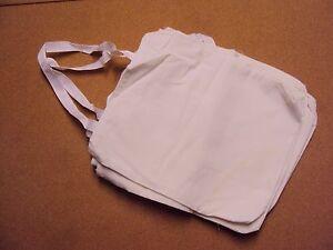 "Pk 12 Tote Bag Cotton Natural Color Reusable Shopping Carrying Bag 11.5 x13.75"""