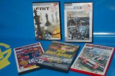 LOTE DE 5 Juegos de PC-PRO RICE DRIVER + Street Racing - Ford + CALL OF DUTY etc