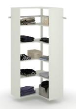 Corner Closet Organizer System White Storage Clothes Hanger Storage Rack Shelves