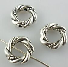 22pcs Tibetan Silver Annular Jump Ring Spacer Beads Jewelry Making 3x11.5mm