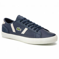 Lacoste Mens Sideline Leather Trainers 7-37cma0068j18 RRP £70 (A22)
