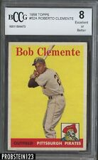 1958 Topps #52A Bob Roberto Clemente Pittsburgh Pirates HOF BCCG 8