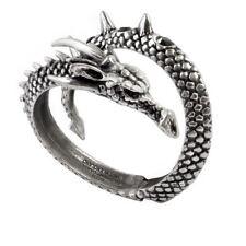 Alchemy Gothic Vis Viva Dragon Scales Swarovski Crystal Pewter Bracelet
