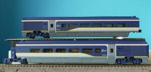 2 NEW HORNBY EUROSTAR LATEST LIVERY COACHES & ARTICULATING BOGIE from R3215 PACK