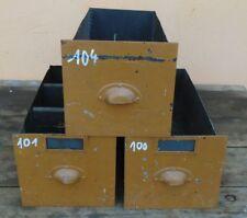 3 alte Schubladen Blech Kasten Schubfach Schubkasten Lade Schieber Loft Shabby !