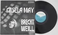 GISELA MAY Brecht Weill LP Vinyl ETERNA 1966 Dreigroschenoper * RAR