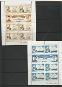 Tuvalu. 2 Mint Unhinged Sheetlets. 7 X 10c. & 7 x $2.00.  See Photos.