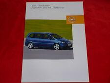 """Opel Zafira A 2.2 DTI """"Edition"""" colección folleto hoja de 2003"""