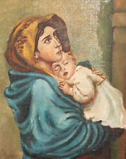 Roberto Ferruzzi, Madonna of the Streets, Portrait oil painting, REPRO
