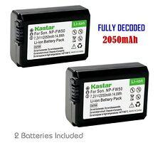 FW50 Battery for Sony  Alpha 7 (a7), 7R (a7R), 7S (a7S), a3000, a5000, a6000