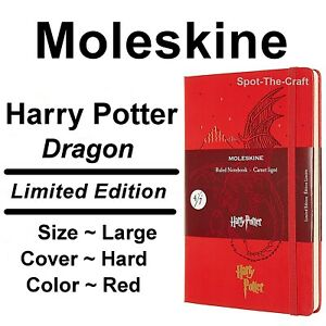 Moleskine Notebook Harry Potter Dragon Limited Edition Large Ruled