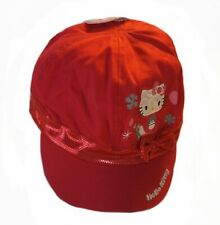 Hello Kitty Ball Cap Hat Childs Red New w Tags girls