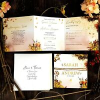 Autumn Wedding Invitations With Envelopes Or Evening Invitations - Fall Wedding